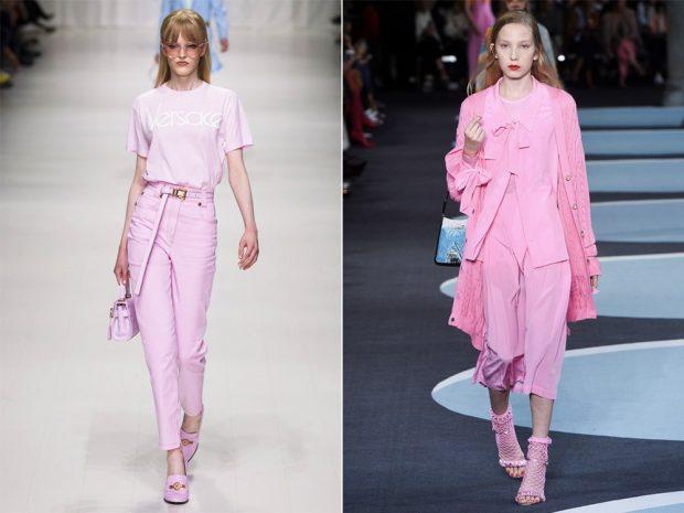 модный лук в розовом оттенке