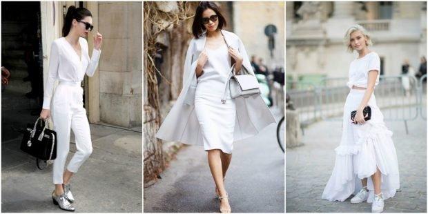 модные образы в белом цвете