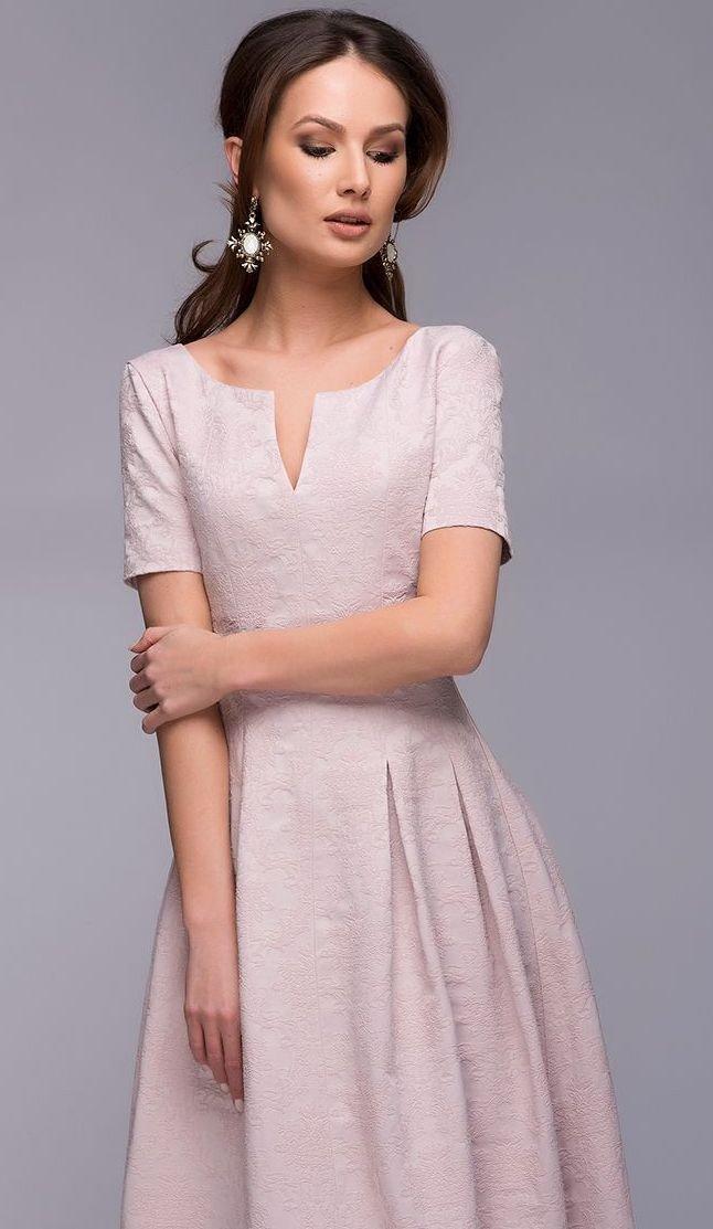 платье светлое рукав короткий