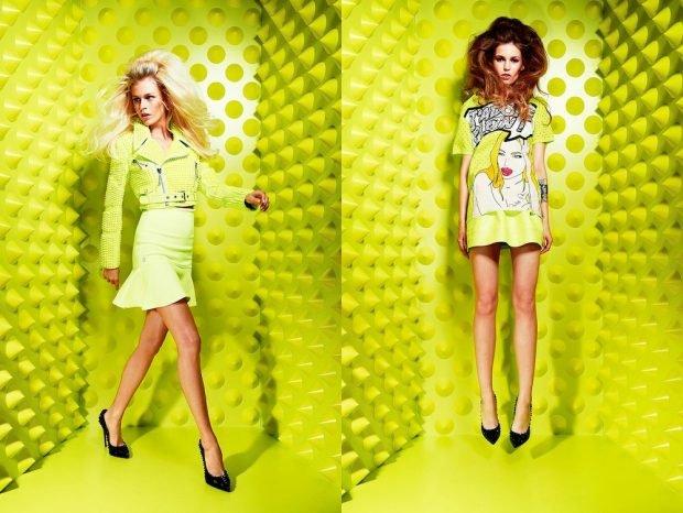 лаймовый лук юбка и блузка платье короткое