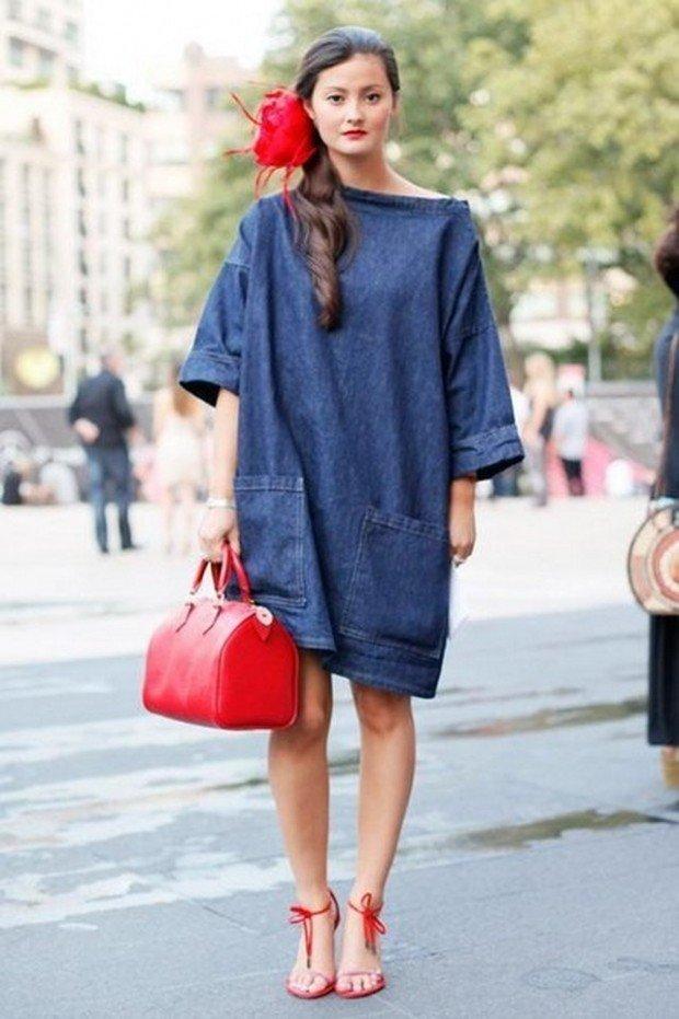 платье-оверсайз джинсовое