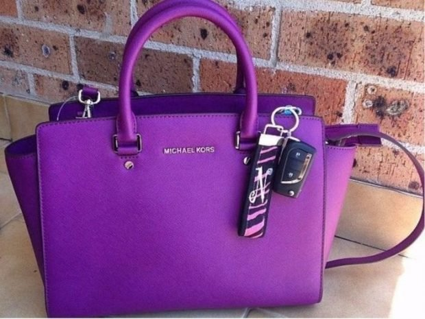 сумка яркая фиолетовая