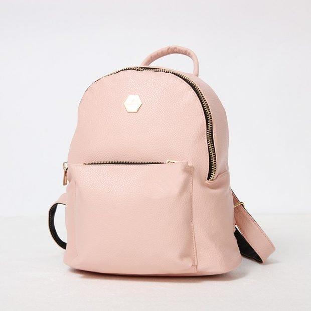 нежно-розовый рюкзак