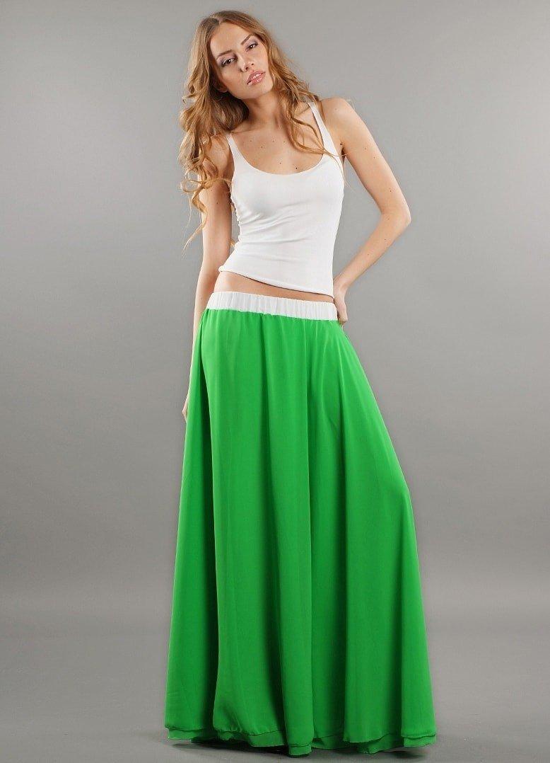 юбка макси зеленая