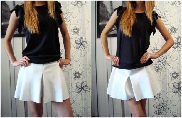 шорты белая короткая