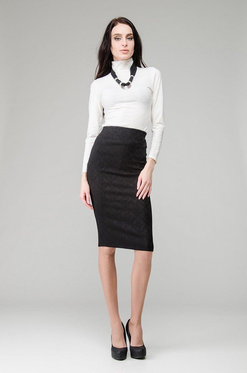 юбка облегающая черная