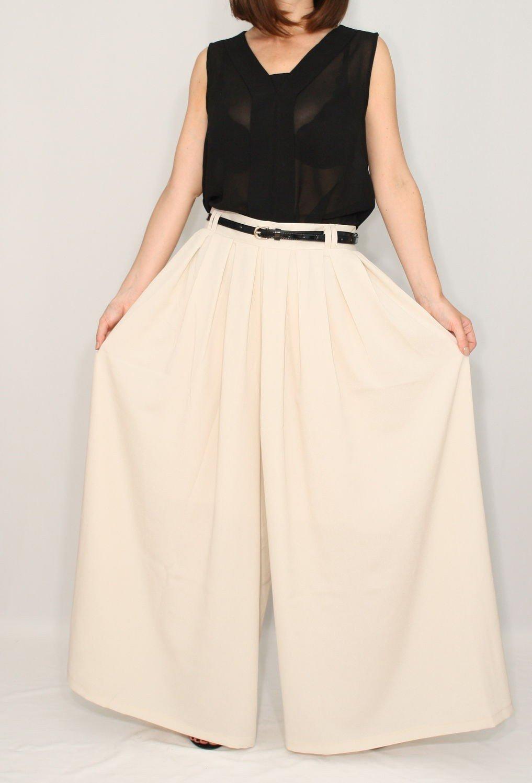 юбка штаны бежевая
