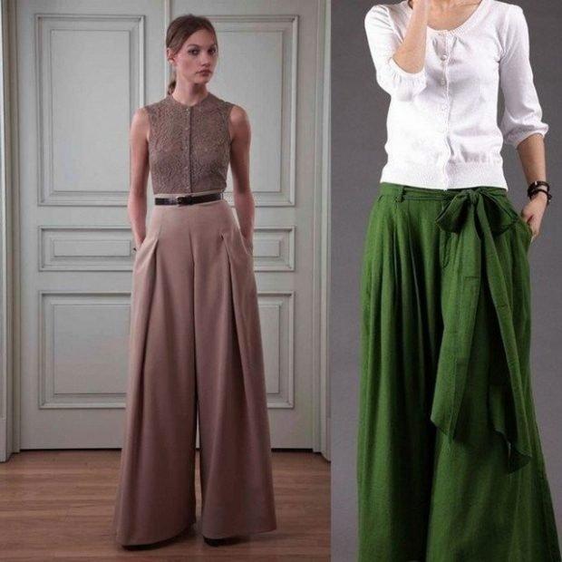 штаны коричневая зеленая