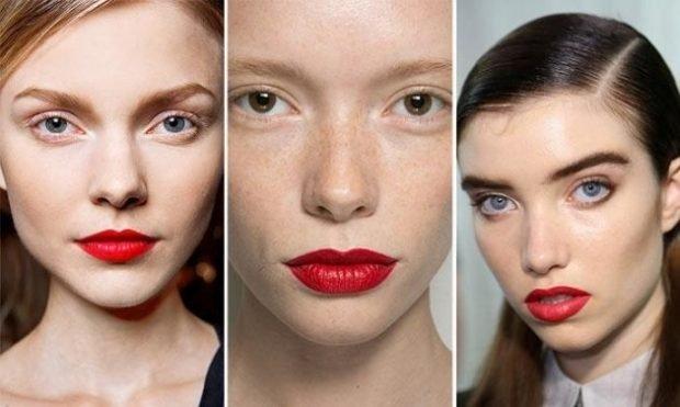 макияж весна лето: с акцентом на красные губы