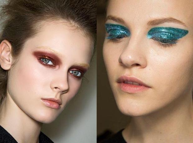 макияж на весну лето: с акцентом на глаза тени коричневые синие