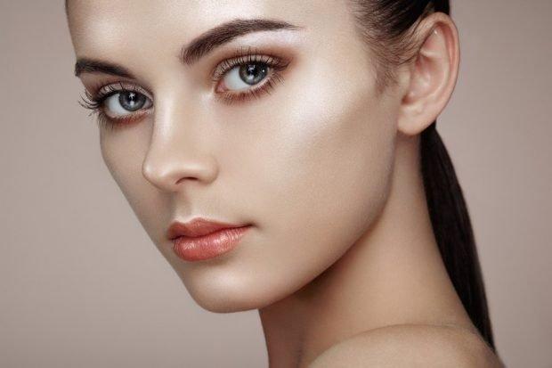 макияж хайлайтер с мерцанием