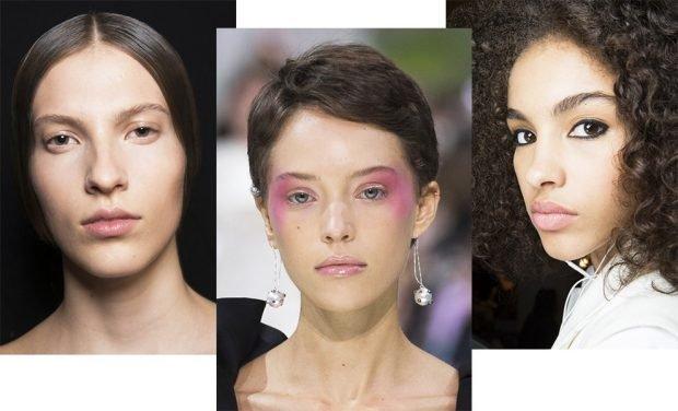 макияж с влажными губами под натуральный