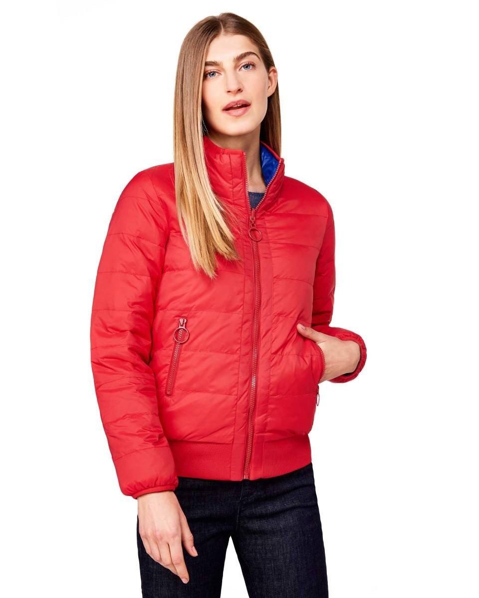 куртка красная короткая