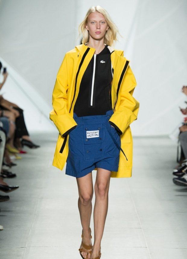 демисезонная куртка желтая средняя длина