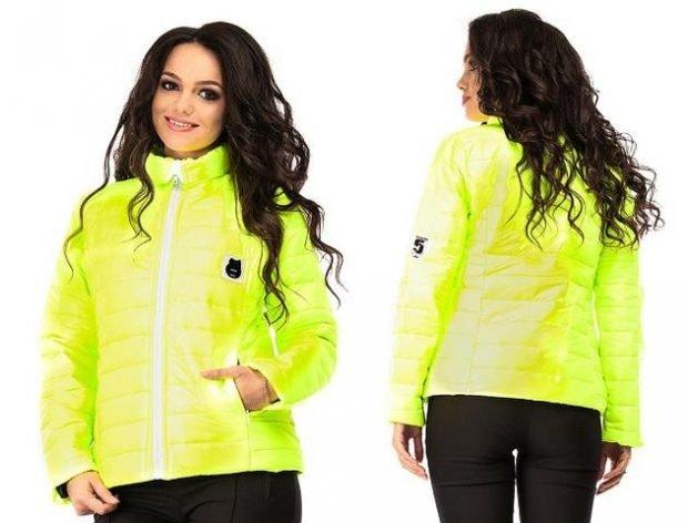 куртка синтепоновая лимонная