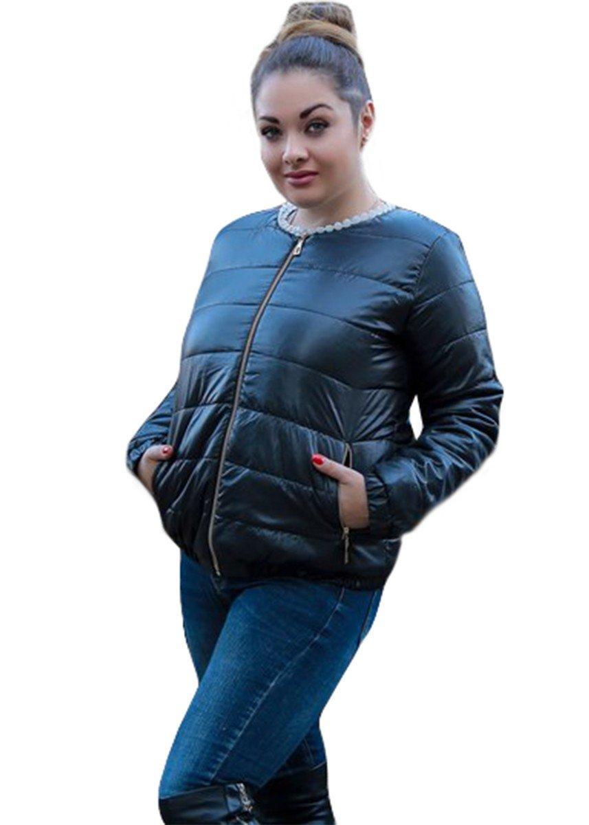куртка синтепоновая черная короткая