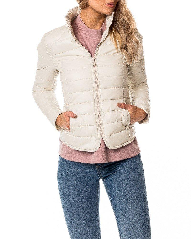 куртка короткая белая стеганая