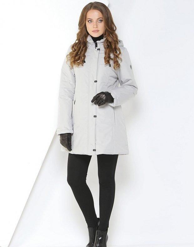 куртка финская серая средняя длина