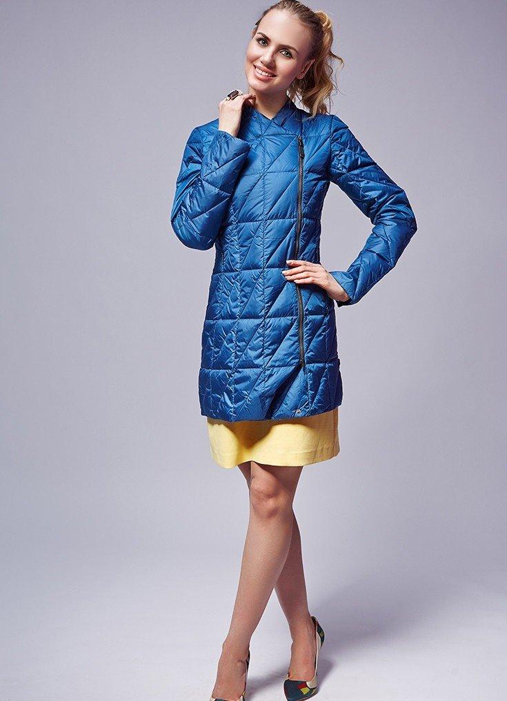 куртка финская синяя стеганая
