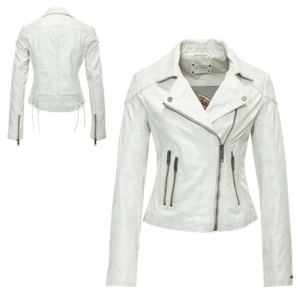 куртка белая кожаная косуха