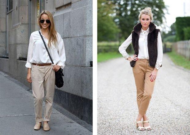 женские брюки весна лето 2020: чиносы серые светло-коричневые