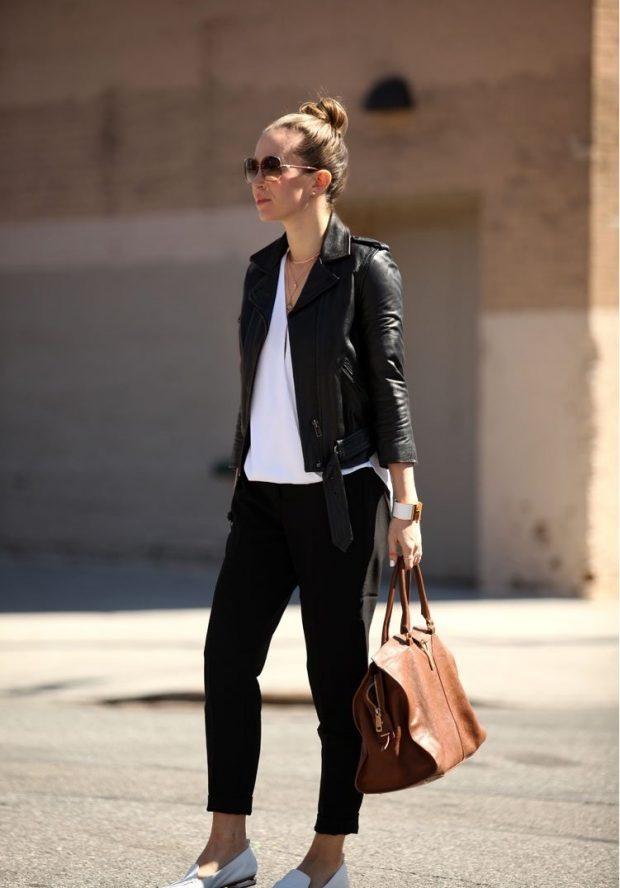 Модные брюки весна лето 2020: чиносы черные