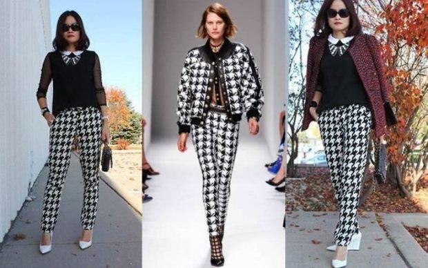 Модные женские брюки весна лето 2020: короткие гусиная лапка