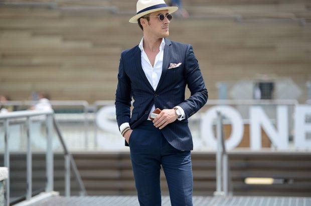 мужская мода 2019 весна лето: брючный костюм темный классика
