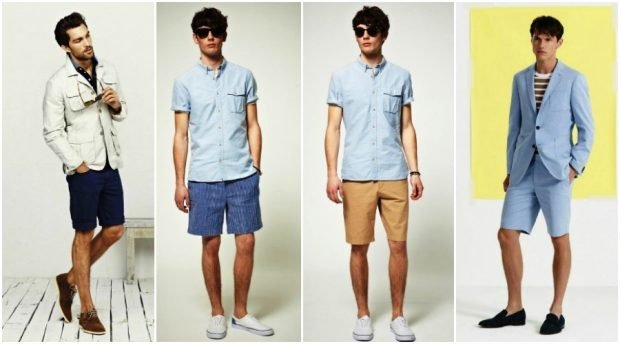 мужская мода весна 2020: шорты под рубашки