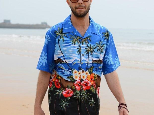 мужская мода весна 2020: рубашка яркая в рисунок