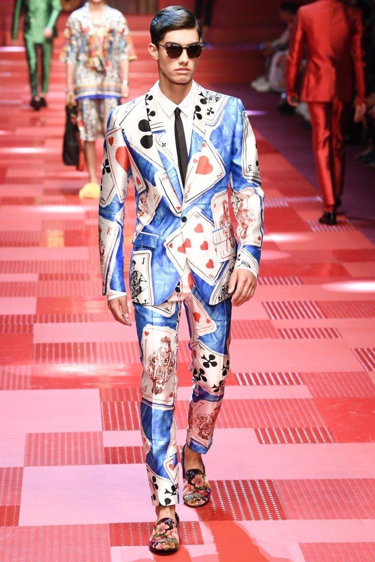 мужская мода 2018 весна лето: костюм брючный яркий