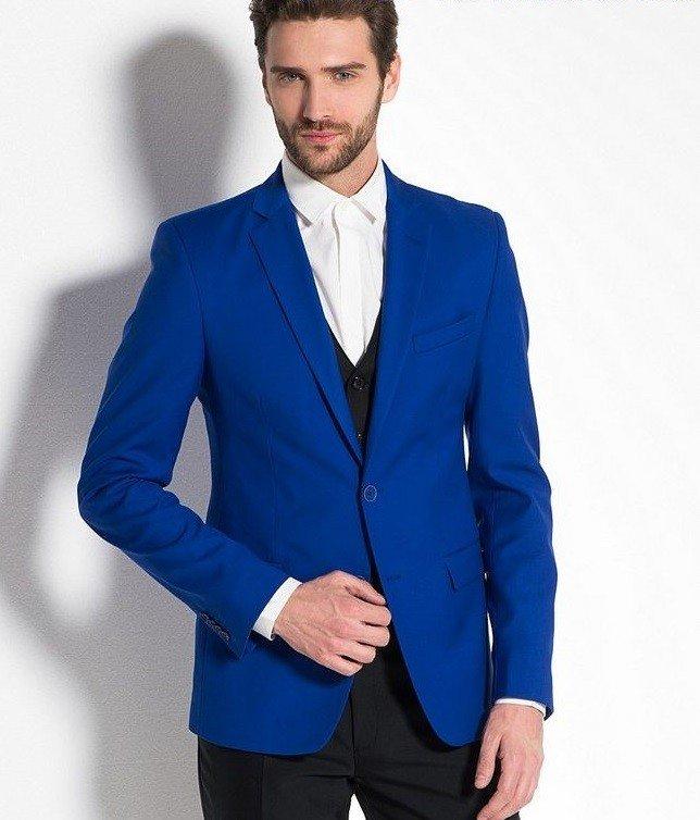 мужская мода 2019 весна лето: синий пиджак брюки черные