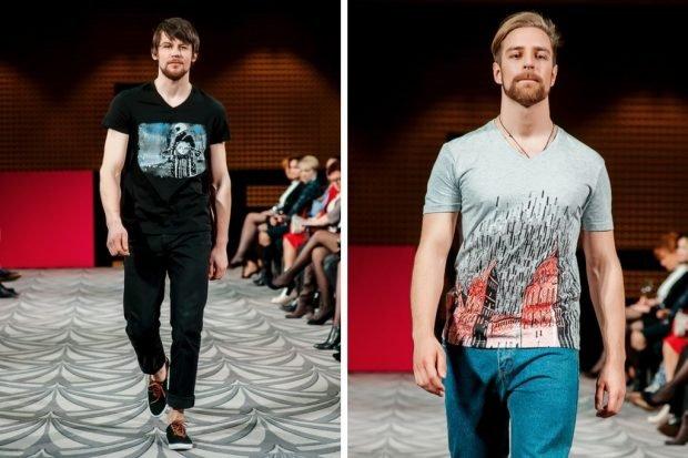 тенденции в мужской моде весна: футболки с принтами под короткие джинсы