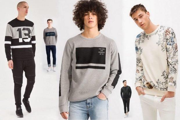 тенденции мужской моды весна лето 2020: модные толстовки серые с принтом белая в цветы