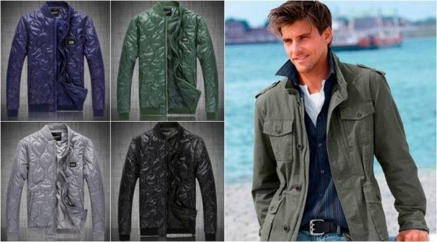 тенденции мужской моды весна лето 2019: куртка зеленая легкая