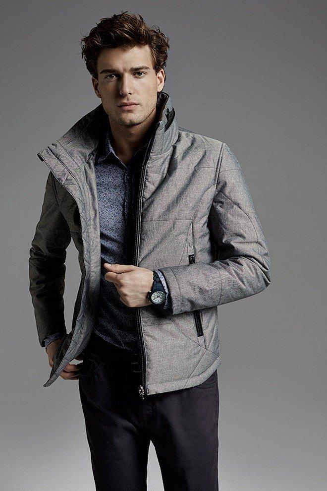 тенденции мужской моды весна лето 2018: серая куртка тканевая