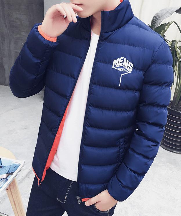 тенденции мужской моды весна лето 2019: стеганая синяя куртка