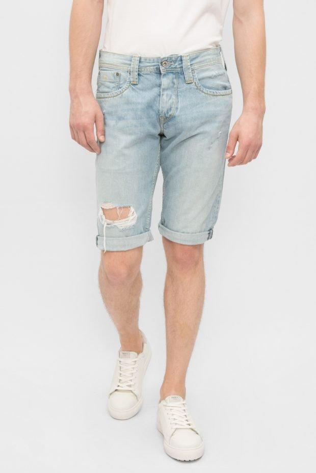 мужская мода весна лето: шорты голубые рваные
