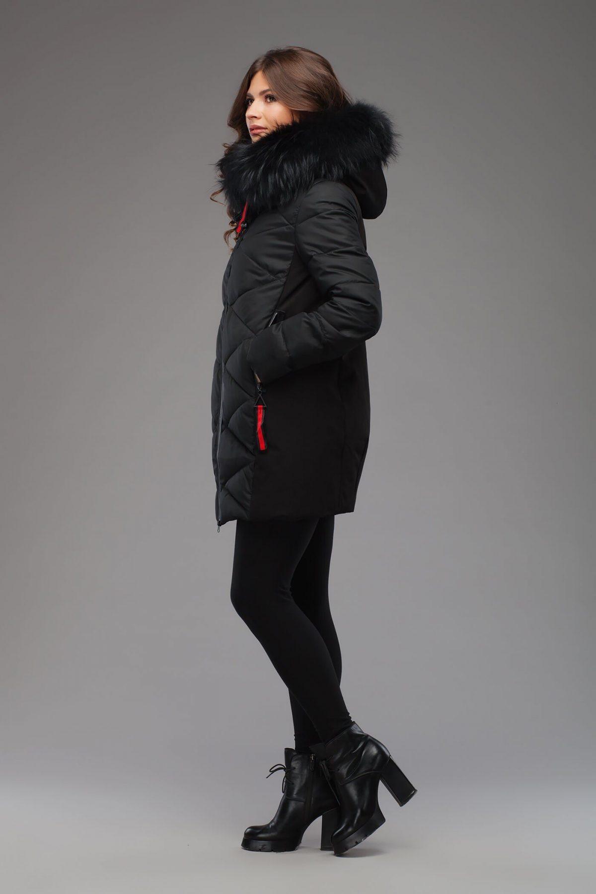 с чем носить пуховики до колена: черный под лосины и обувь на каблуке