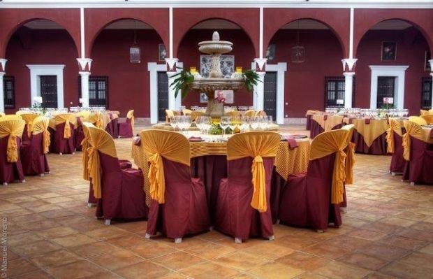 украшение зала цвет золота и марсала