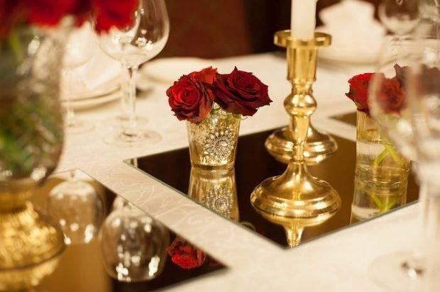 декор цвет марсала и золота