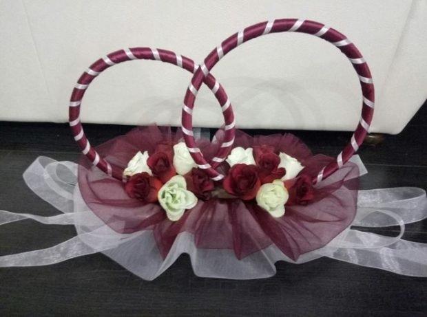 декор на свадьбу цвет марсала