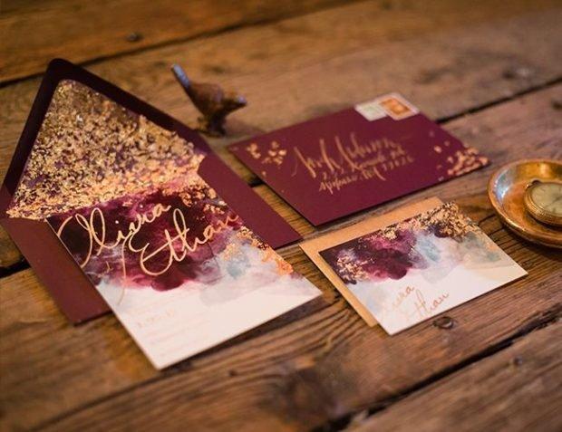 приглашение на свадьбу цвет марсала