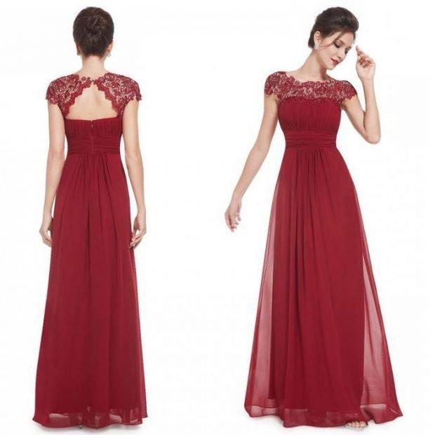 платье шифоновая юбка ажурный верх