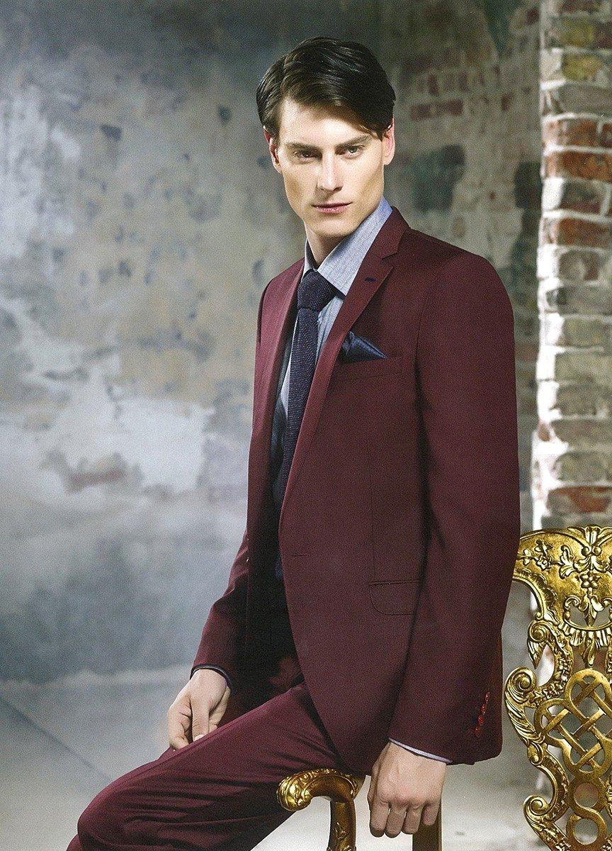 свадебный мужской костюм цвет марсала темный