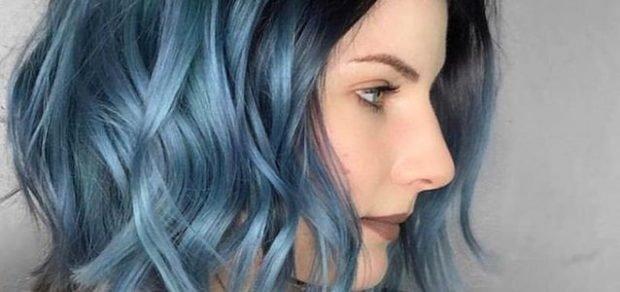 волосы тренд 2019 2020: синие
