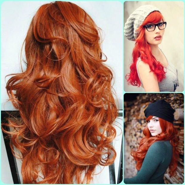 тренды 2019 2020 волосы: яркие рыжие