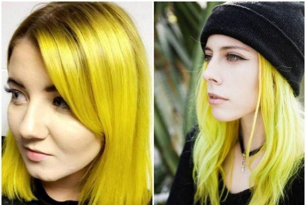 тренды 2019 2020 волосы: желтый цвет