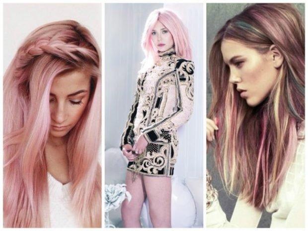 волосы тренд 2019 2020: модные розовые