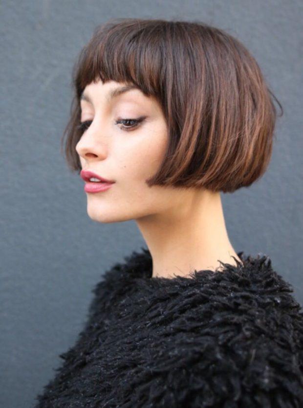 тренды 2019 2020 волосы: каре короткое с челкой